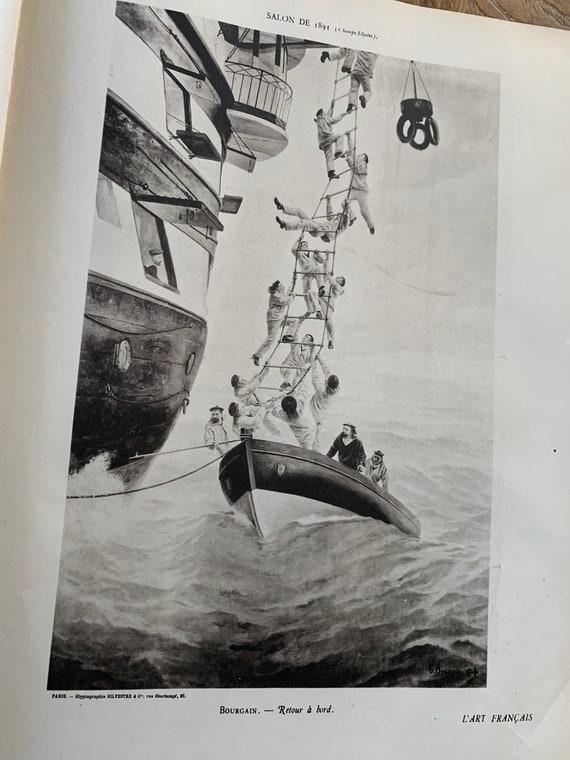 Lot de deux revues art français de 1891 avec gravures rédacteur Firmin javel, DIRECTEUR SIVETRE ET Cie