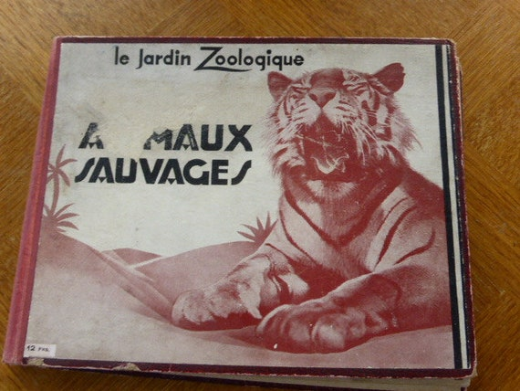 THE ZOOLOGICAL GARDEN wild animals 47 pages old