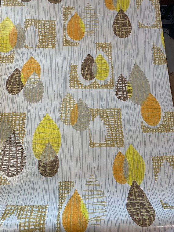 Vintage 1960 wallpaper roll, wallpaper, design and trendy patterns approximately 6 meters x 52 cm