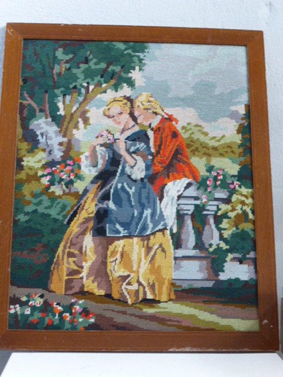 Canvas, tapissery vintage 1960/1970, Marquis marquis, baroque
