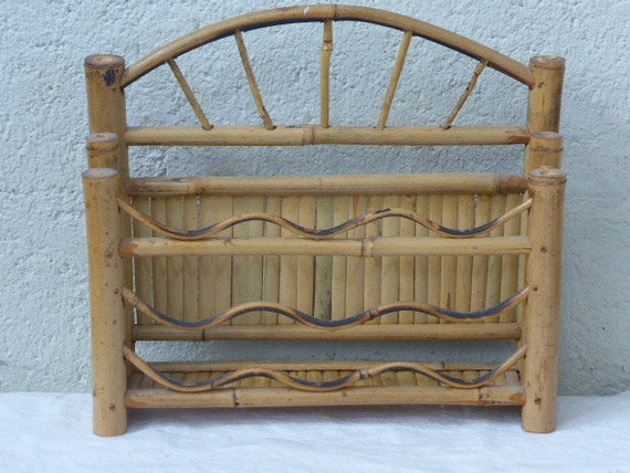Porte courriers, vintage bamboo letter 1960/70