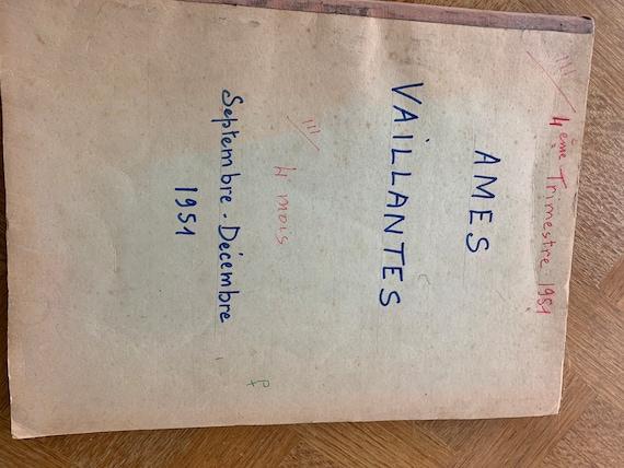 Vintage 1951 comic book, 4th quarter 1951, Ames Vaillantes collector
