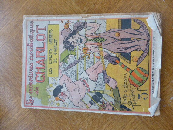 The acrobatic adventures of Charlot, the sporting exploits of charlot Very old cartoon