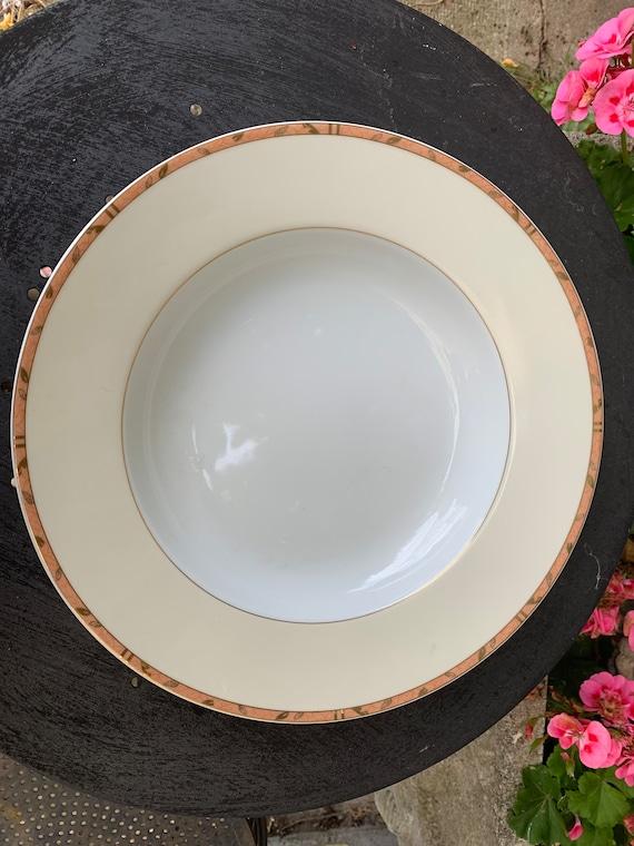 Limoges porcelain deep dish, Guy Degrenne, Feuillage model, exclusive model, vintage
