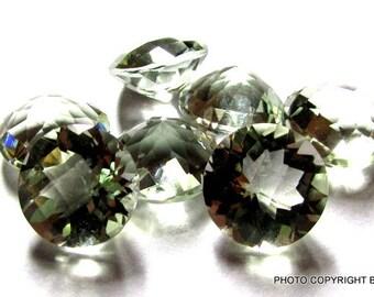 10mm GREEN AMETHYST Round checker board cut, 100% Natural gemstone Green Amethyst Faceted Round Green Amethyst Round Checker Faceted