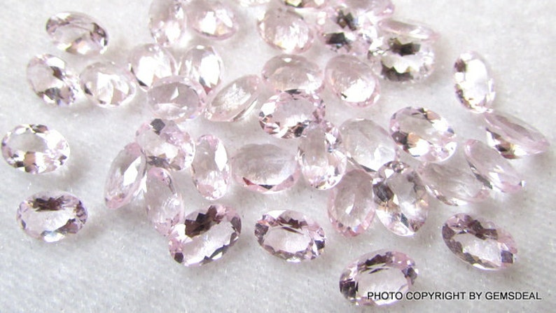 Gemstone.... beautiful Pink color.... Quality AAA+ 7x5mm MORGANITE Faceted Oval Loose Gemstone