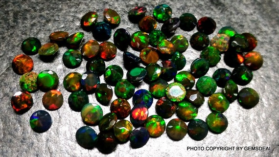 Details about  /5 Pieces AAA Quality Natural 6mm Ethiopian Opal Faceted Round Loose Gemstones