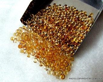 10 pieces 4mm Citrine Cabochon Round Gemstone, Natural Golden CITRINE round cabochon gemstone, AAA Quality, Citrine Cabochon Round Gemstone