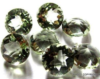 2pcs 6mm GREEN AMETHYST Round checker board cut, 100% Natural gemstone Green Amethyst Faceted Round Green Amethyst Round Checker Faceted