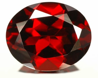 10x14mm RED GARNET Faceted Oval top cut faceted gemstone..... HOT red color....