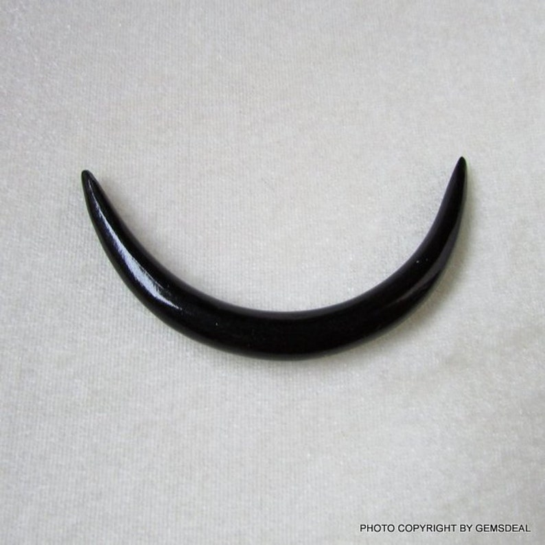 70X8mm Approximate Half moon Fancy Shape BLACK ONYX have lots of gorgeous.... Commercial Quality Shape HALF Moon gemstone...