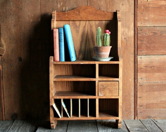 Vintage Cubby Cabinet, Rustic Entryway Cabinet, Rustic Mail Organizer, Kitchen Wall Cabinet, Entryway Wall Organizer, Wall Cabinet Bathroom