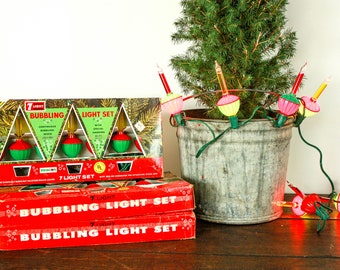 vintage bubble lights working with box mid century christmas lights bubble light christmas tree retro christmas tree lights noma bubble