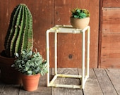 Vintage Metal Plant Stand, Iron Plant Stand, Slatted Side Table, Mid Century Side Table, Mid Century End Table, Boho Plant Stand