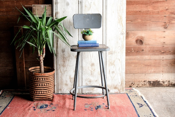 Prime Vintage Industrial Stool Metal Stool Factory Stool Industrial Bar Stool With Back Vintage Bar Stool Work Stool Shop Stool Chair Squirreltailoven Fun Painted Chair Ideas Images Squirreltailovenorg