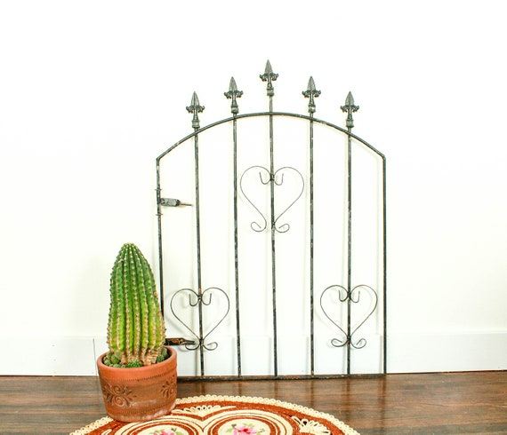Porte en fer forgé vintage, porte de jardin en fer forgé, panneau de  clôture en fer forgé, porte rustique pour le jardin, décor de mur de porte  de ...
