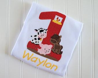 Barn Birthday Shirt, Farm Birthday Shirt, Farm Animals, Barn 1st Birthday, Barnyard Party, Farm Party, Barn Party, Barnyard Birthday