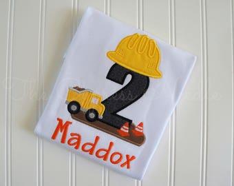 Construction Birthday Shirt, Construction Shirt, Birthday Shirt, Hard Hat Shirt, Dump Truck Birthday, Dump Truck Shirt, Construction Party