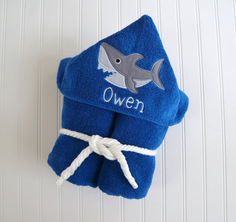 0b645cda00 Shark Hooded Towel Beach Hooded Towel Shark Towel Toddler | Etsy