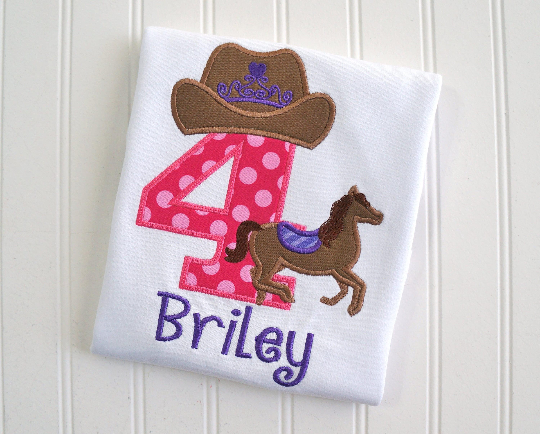 Cowgirl Birthday Cowgirl Horse Shirt Girls Horse Birthday  4ef1567cace