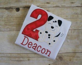 Dalmatian Birthday, Birthday Shirt, Puppy Birthday, Dog Birthday, Dog First Birthday, Puppy First Birthday, Fire Dog Birthday, Puppy Love