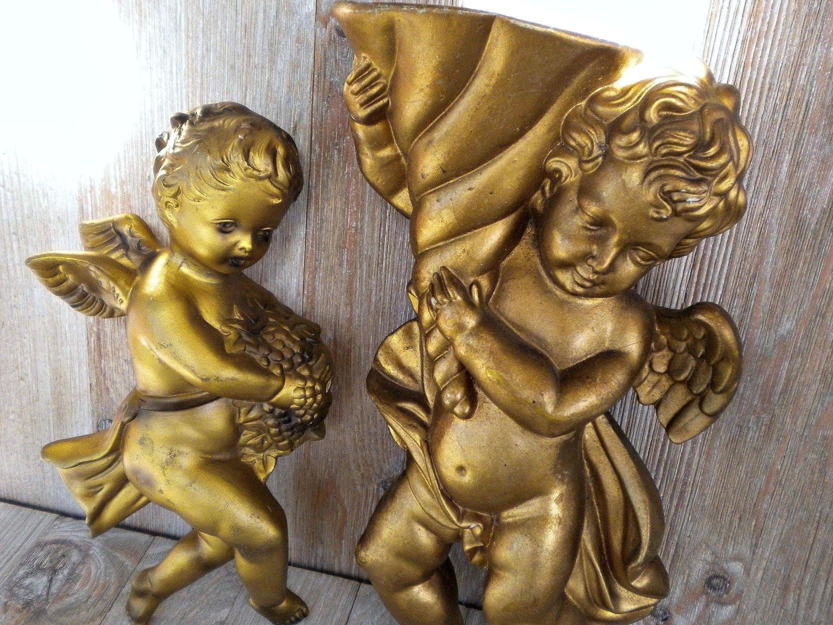 ch rubins vintages plaques murales ch rubin angelots en etsy. Black Bedroom Furniture Sets. Home Design Ideas