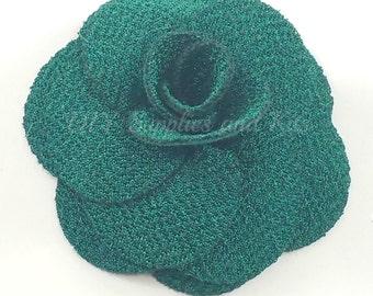 Green rose fabric flower - Small rose flower - Green flowers -  Mini flowers for crown headbands - Wedding decoration - Rose flowe