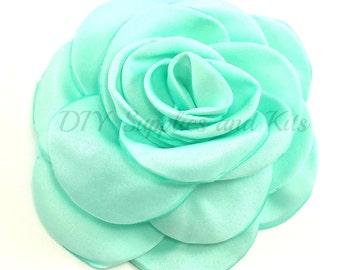"""Aqua green - 3"""" Rose petal flower - Aqua green flower"""