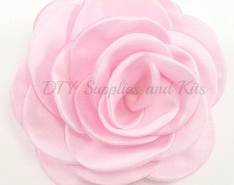 "Light pink - 3"" Rose petal flower - Light pink flower"