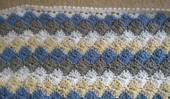 Crochet Pattern Baby Boy Blanket Harlequin Catherine Etsy