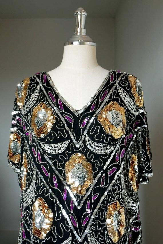 1970' Bohemian sequin dress
