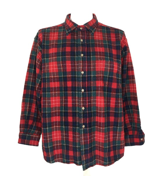 1990s PENDLETON Plaid Vintage Button Down Lodge Shirt  Size Medium