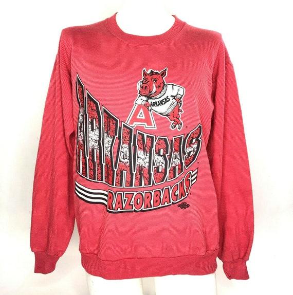 Mens Sweatshirt Arkansas Razorbacks Thin Vaporwave