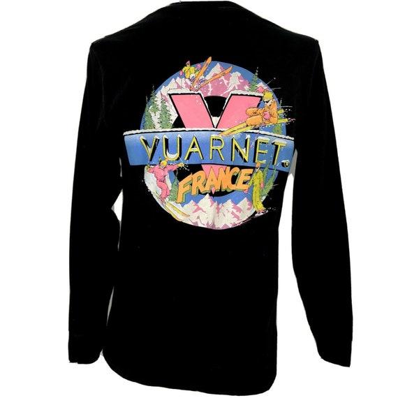 Vuarnet Mens T Shirt Long Sleeve Double Sided Neon