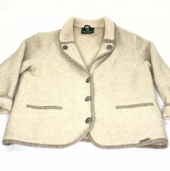 Giesswein Boiled Wool Jacket Cardigan Sweater Coin