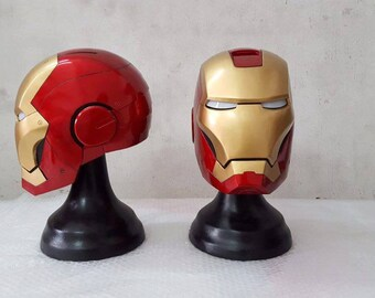 Iron Man LED eyes helmet movie Prop Replica 1:1 Full Scale Head Cosplay Costume Accessories Handmade Quality.