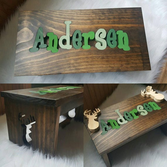 Pleasant Personalized Puzzle Name Step Stool Caraccident5 Cool Chair Designs And Ideas Caraccident5Info