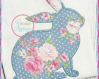 Bunny applique etsy