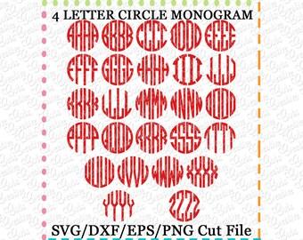 4 letter monogram | Etsy
