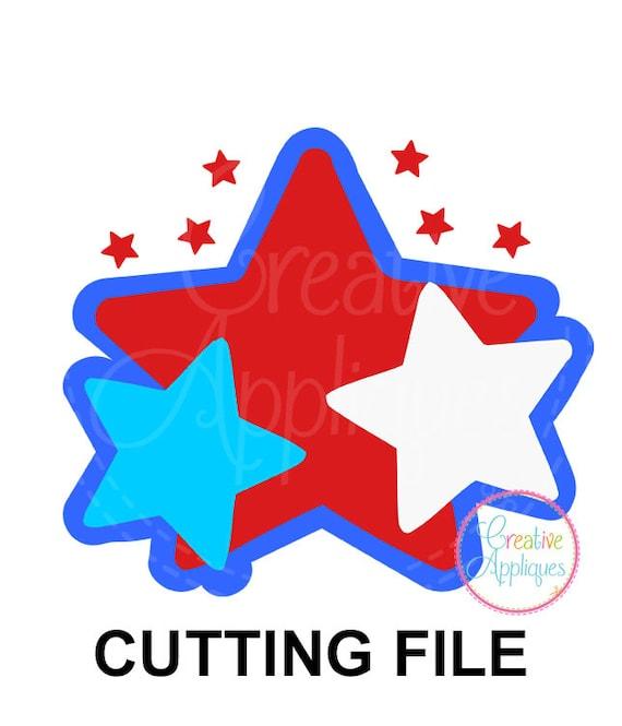 Exclusive Patriotic Star Trio Cutting File Flag Cut File Etsy