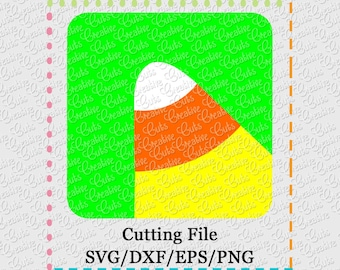SVG EPS DXF Cutting File Candy Corn svg, halloween svg, candy corn cut file, creativeapplique, candy corn vector file, trick or treat svg