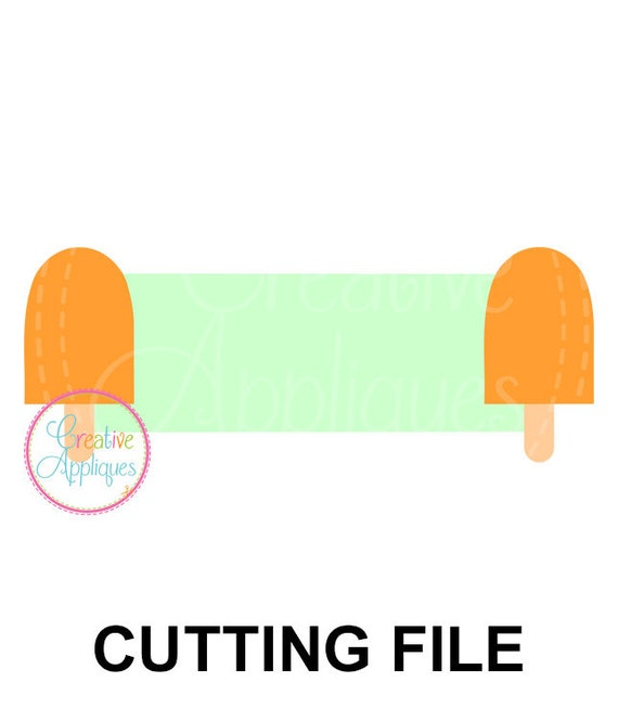 Popsicle Frame SVG Cutting File Popsicle frame svg Popsicle | Etsy