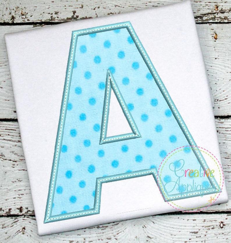 Applique Alphabet Letter Set A-Z Applique Machine Embroidery image 0