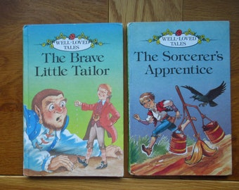Ladybird Books Well Loved tales.  The Sorcerer's Apprentice The Brave Little Tailor  Children's Books. Ladybird Grade 1 Series 606D.