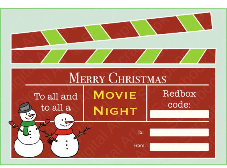 photograph relating to Printable Redbox Gift Cards known as Redbox Xmas Reward Card ✓ The Christm Reward Inspirations