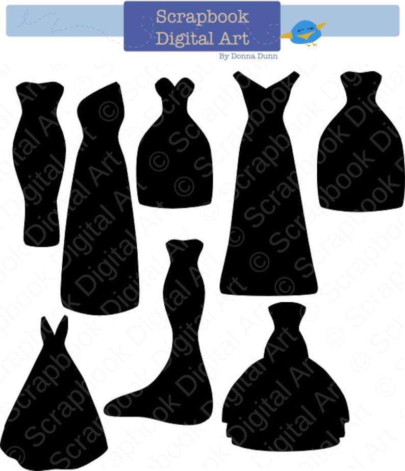 Black Dress Silhouette Clip Art Bridesmaid Dresses Wedding
