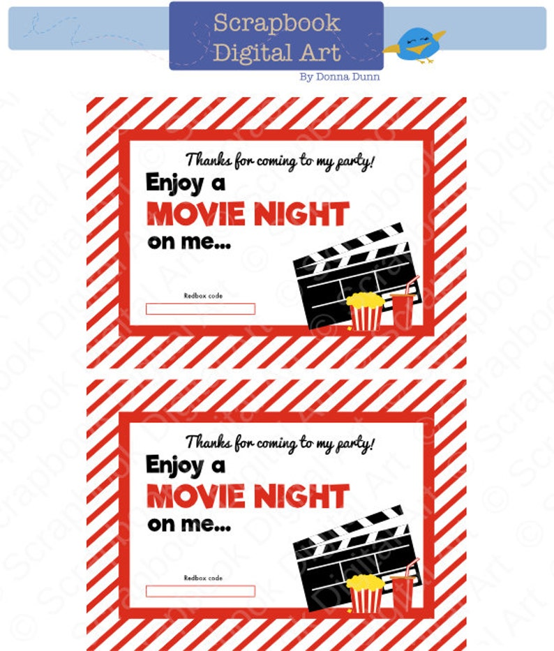 image relating to Printable Redbox Gift Cards called Thank oneself - Variation 2. Printable Redbox Present Card Tag.