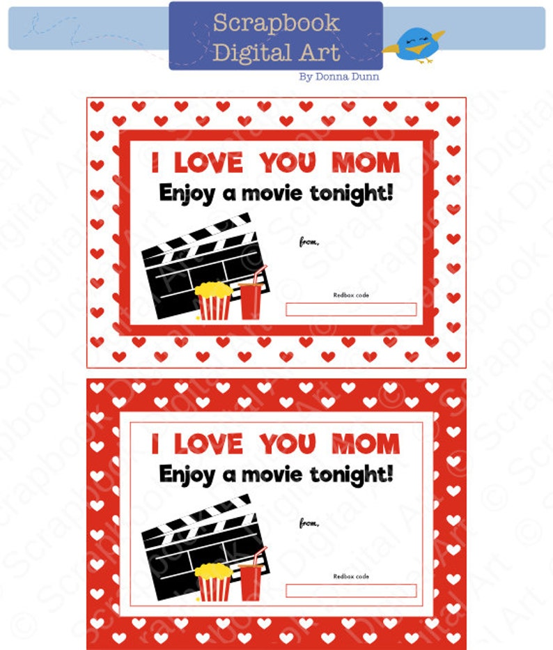 photograph relating to Free Printable Redbox Gift Tags identified as For Mother, Printable Redbox Reward Tag, Printable Card, Video clip Evening Redbox coupon.