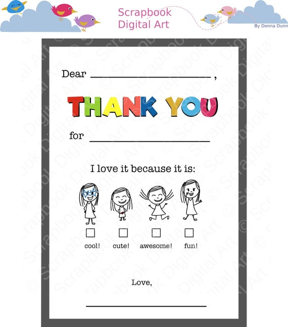 graphic relating to Fill in the Blank Thank You Cards Printable identified as Fill Inside of the Blank Thank Your self Playing cards. Printable Thank Yourself Card.