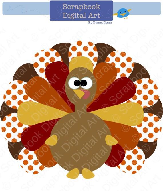 colorful turkey digital clip art thanksgiving turkey turkey etsy